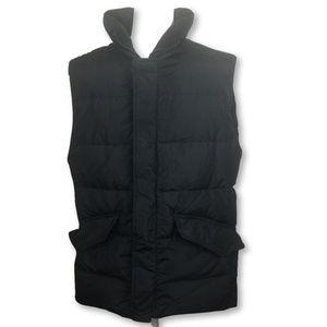 Banana Republic Mens Down Puffer Vest Black Size M